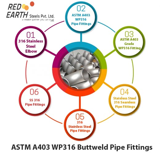 ASTM A403 WP316 Buttweld Pipe Fittings