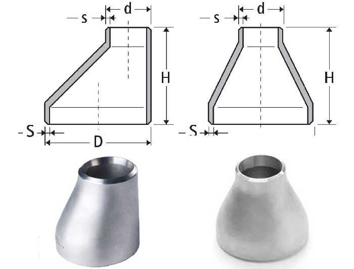 Buttweld Pipe Reducers Dimensions