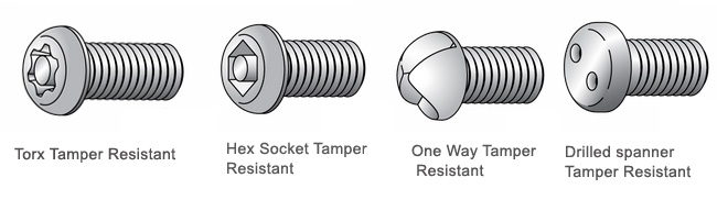 ANSI/ASTM F593 Tamper Resistant screws